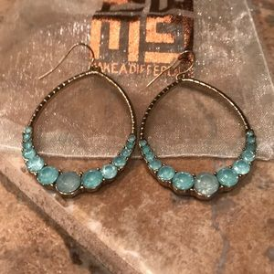 Express Turquoise Color Stone Earrings $29!